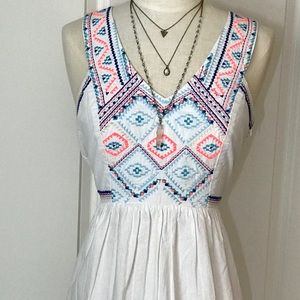 Bright Aztec Embroidered dress